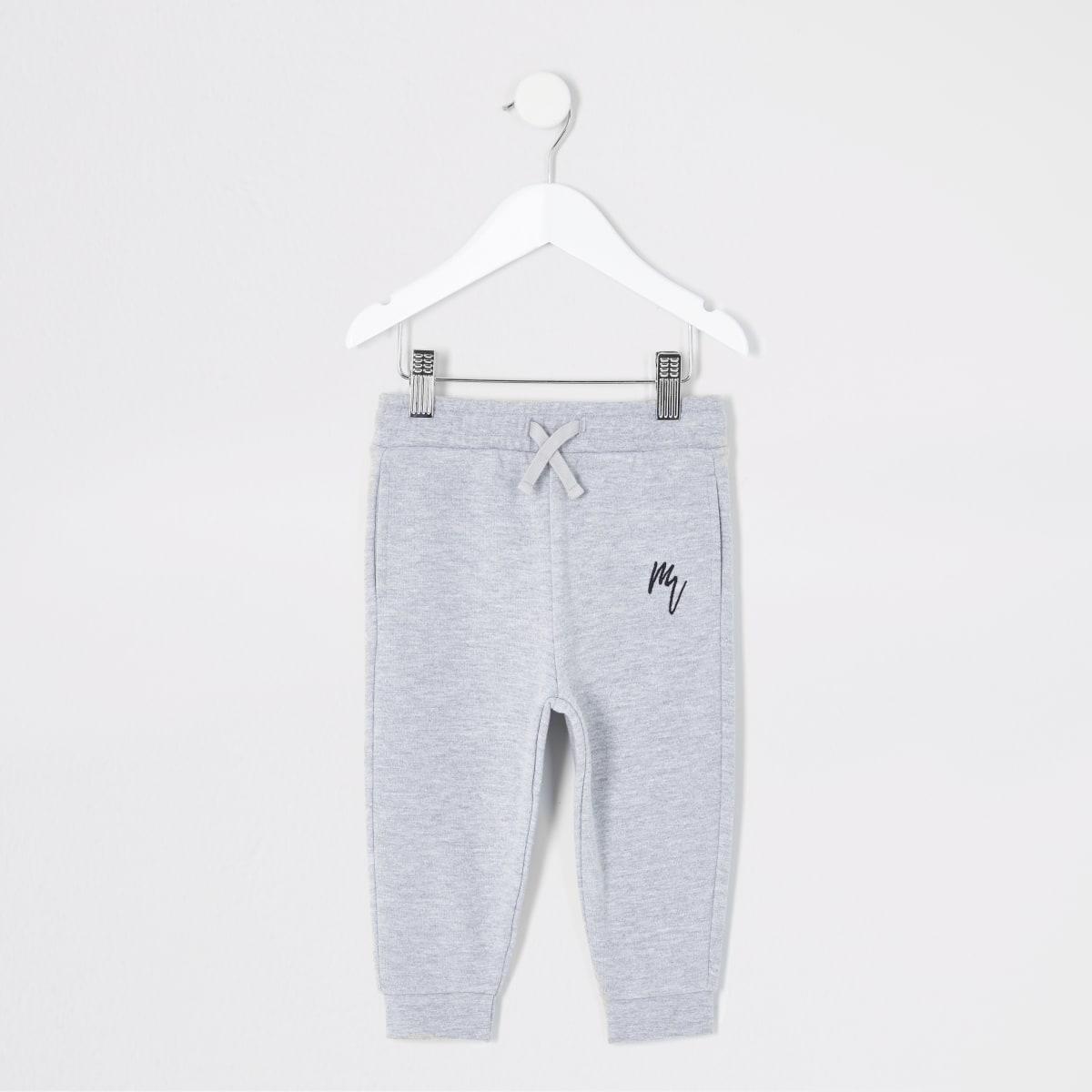 Mini boys grey Maison Riviera joggers