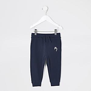 MaisonRiviera- Marineblauwe joggingbroek voor mini-jongens