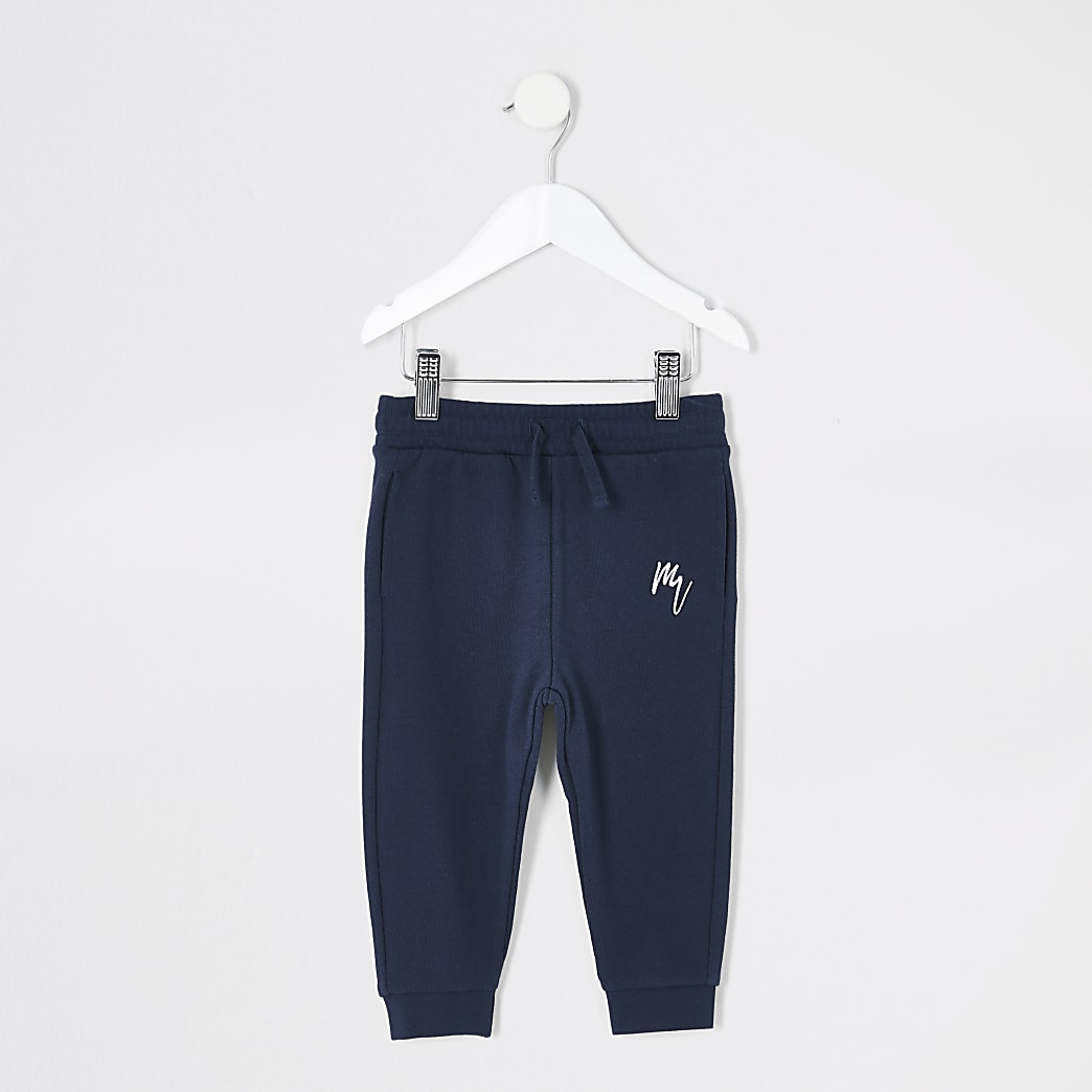 Pantalons de jogging Maison Riviera bleu marine Mini garçon
