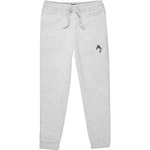 Pantalons de jogging Maison Riviera gris pour garçon