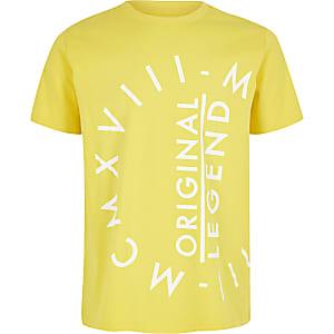 """Gelbes T-Shirt """"MCMXVIII"""" für Jungen"""