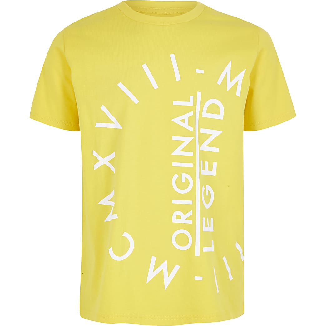 Boys yellow MCMXVIII T-shirt