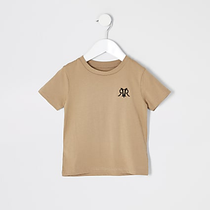Mini boys stone RVR embroidered T-shirt