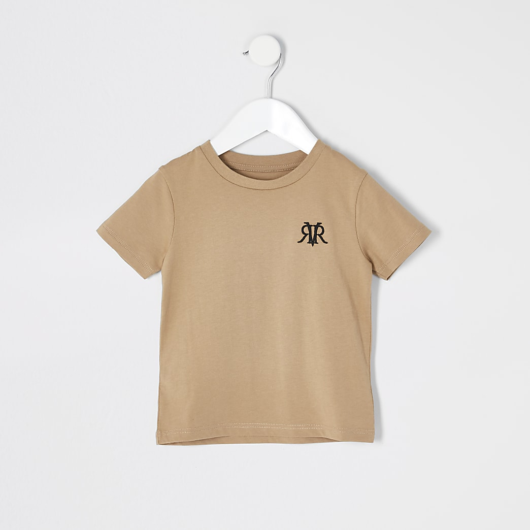 Mini boys stone RVR embroidered T-shirt