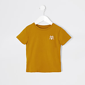 Mini – Gelbes T-Shirt mit RVR-Stickerei für Jungen