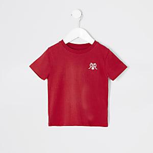 Mini – Rotes T-Shirt mit RVR-Stickerei für Jungen