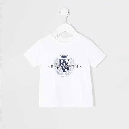 Mini boys white 'Lil prince' T-shirt