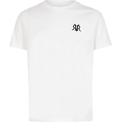 Boys white RVR embroidered T-shirt