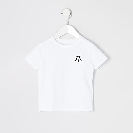 Mini boys white RVR embroidered T-shirt