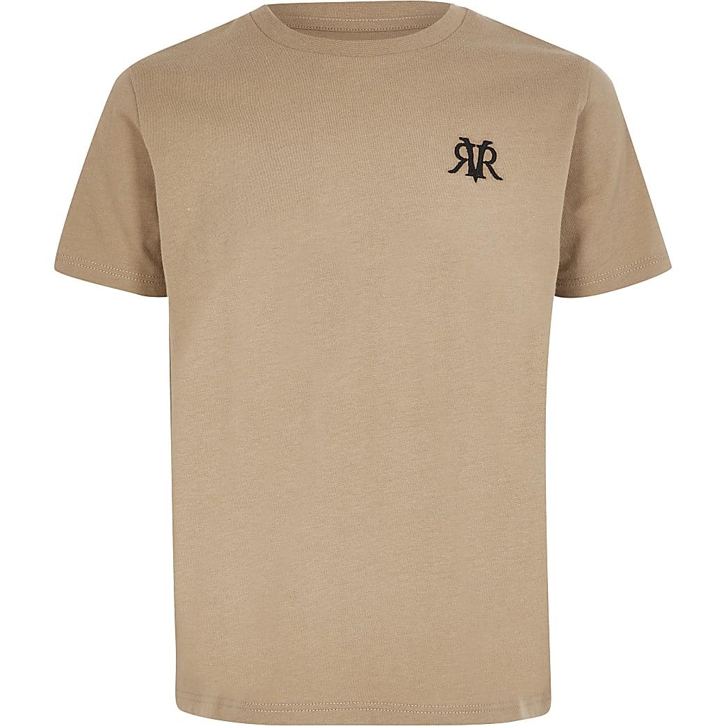 Boys stone RVR embroidered T-shirt