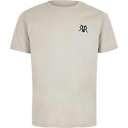 Boys grey RVR embroidered T-shirt