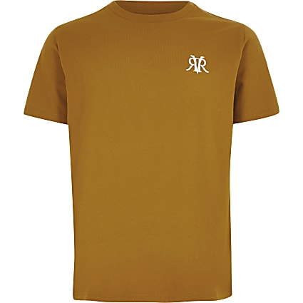 Boys yellow RVR embroidered T-shirt