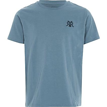 Boys blue RVR embroidered T-shirt