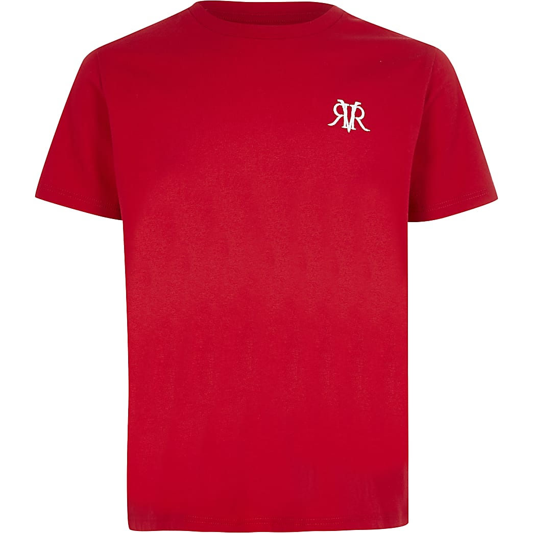 Boys red RVR T-shirt