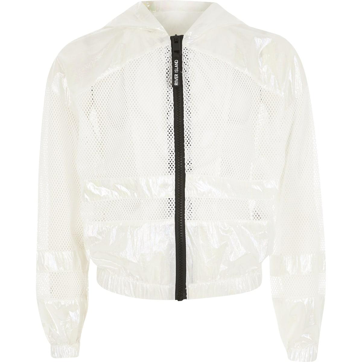 Girls RI Active white mesh jacket