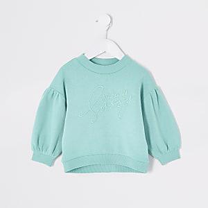 """Mini – Türkises Sweatshirt """"Sassy"""" für Mädchen"""