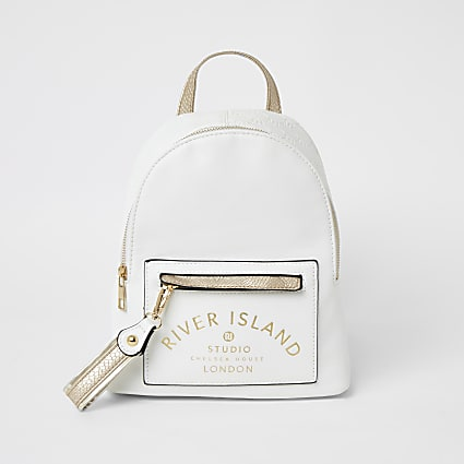 Girls white RI Studio backpack