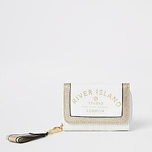 Weiße Geldbörse mit RI-Studio-Print für Mädchen