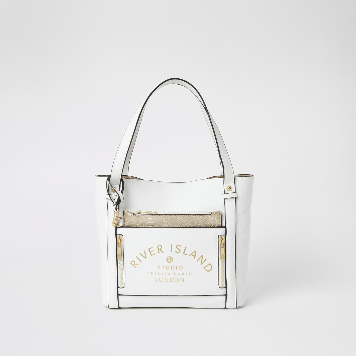 Witte RI Studio shopper voor meisjes