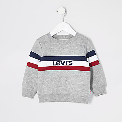 Mini boys Levi's grey sweatshirt