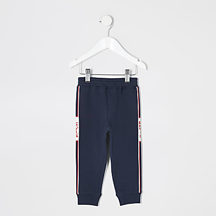 Mini boys Levi's navy joggers
