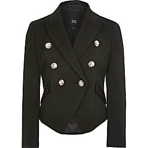 Zwarte double-breasted blazer voor meisjes