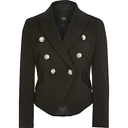 Girls black  double breasted blazer