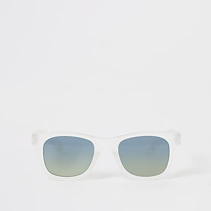 Mini boys white mirrored retro sunglasses