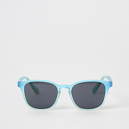 Boys blue retro sunglasses