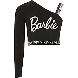 Barbie - Top court noir asymétriquepour fille