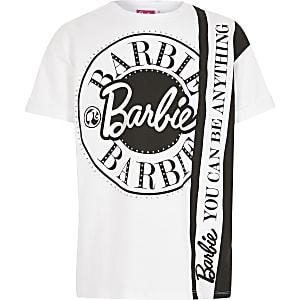 Barbie- T-shirt imprimé blanc pour fille