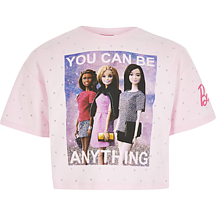 Girls Barbie 'You can be anything' T-shirt