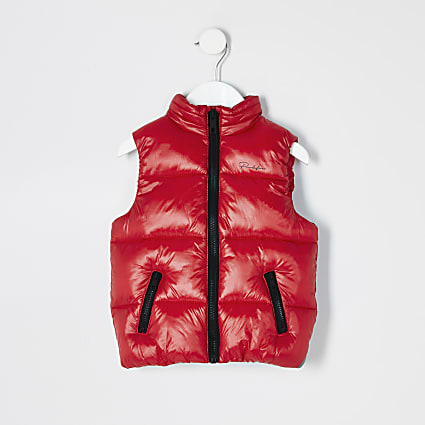Mini boys red Prolific padded gilet