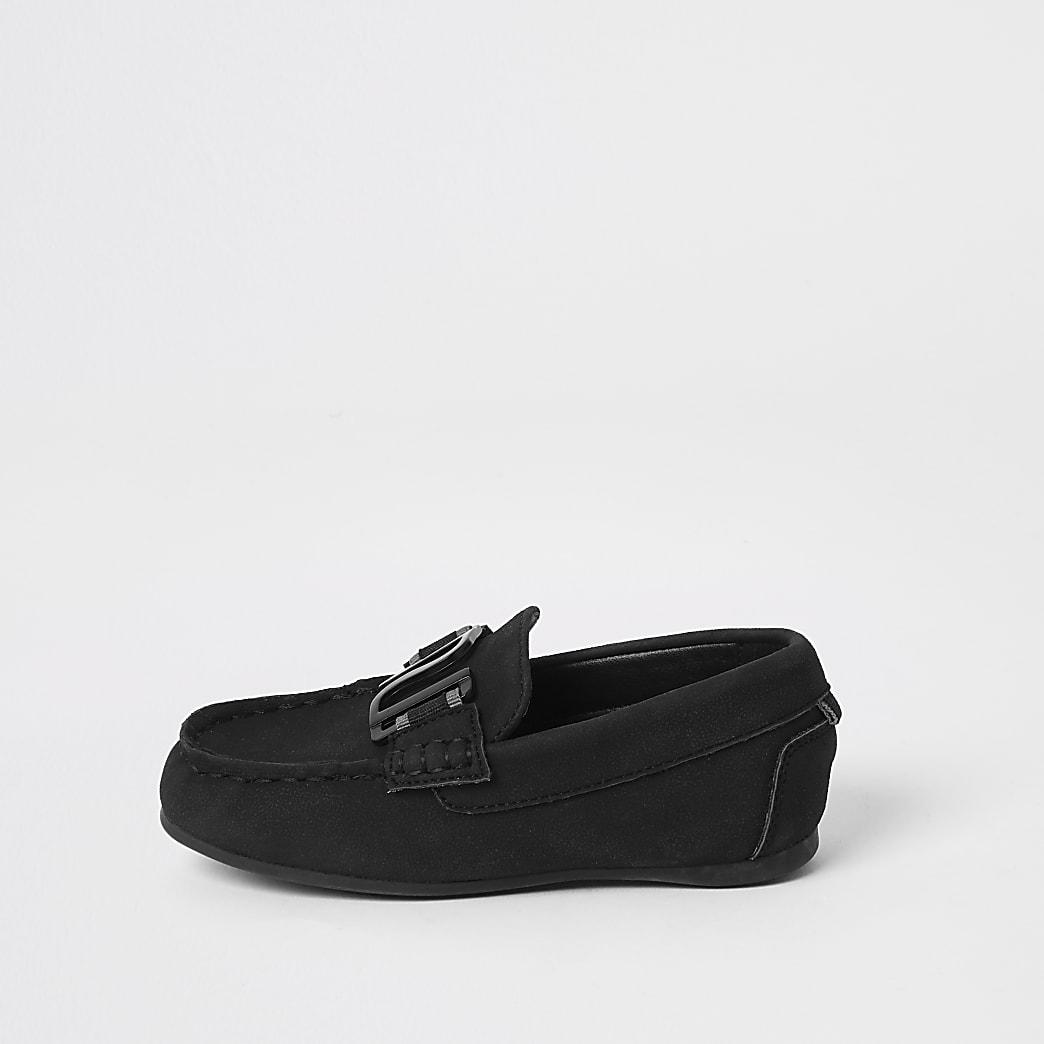 Mini boys black RI driver shoes