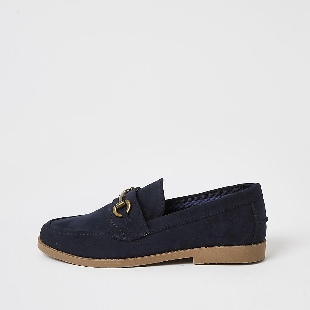 Boys navy loafer