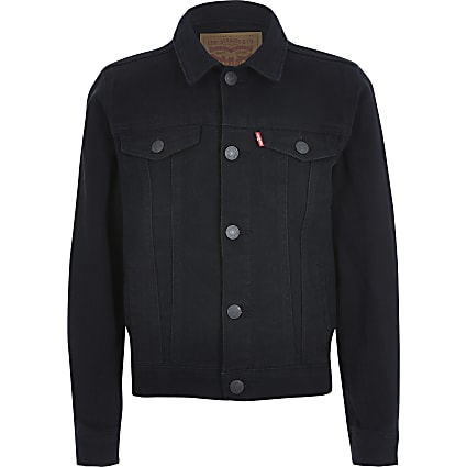 Boys Levi's black denim jacket