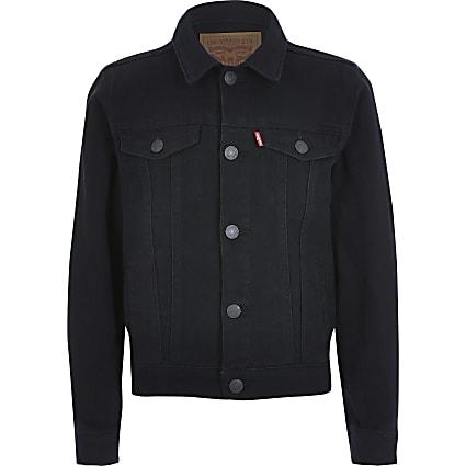 Boys Levi's black denim jacket