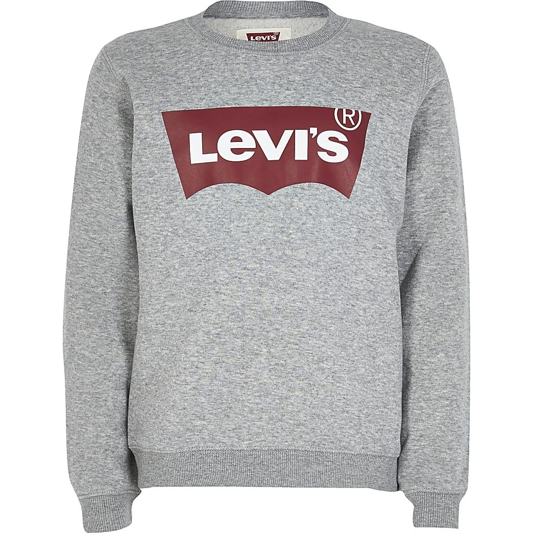 Boys Levi's grey logo print sweatshirt