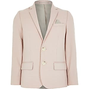 Roze single breasted blazer voor jongens