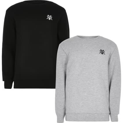 Boys grey RVR sweatshirt 2 pack