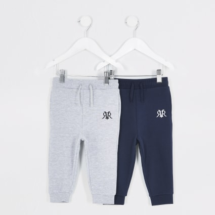Mini boys navy RVR jogger 2 pack