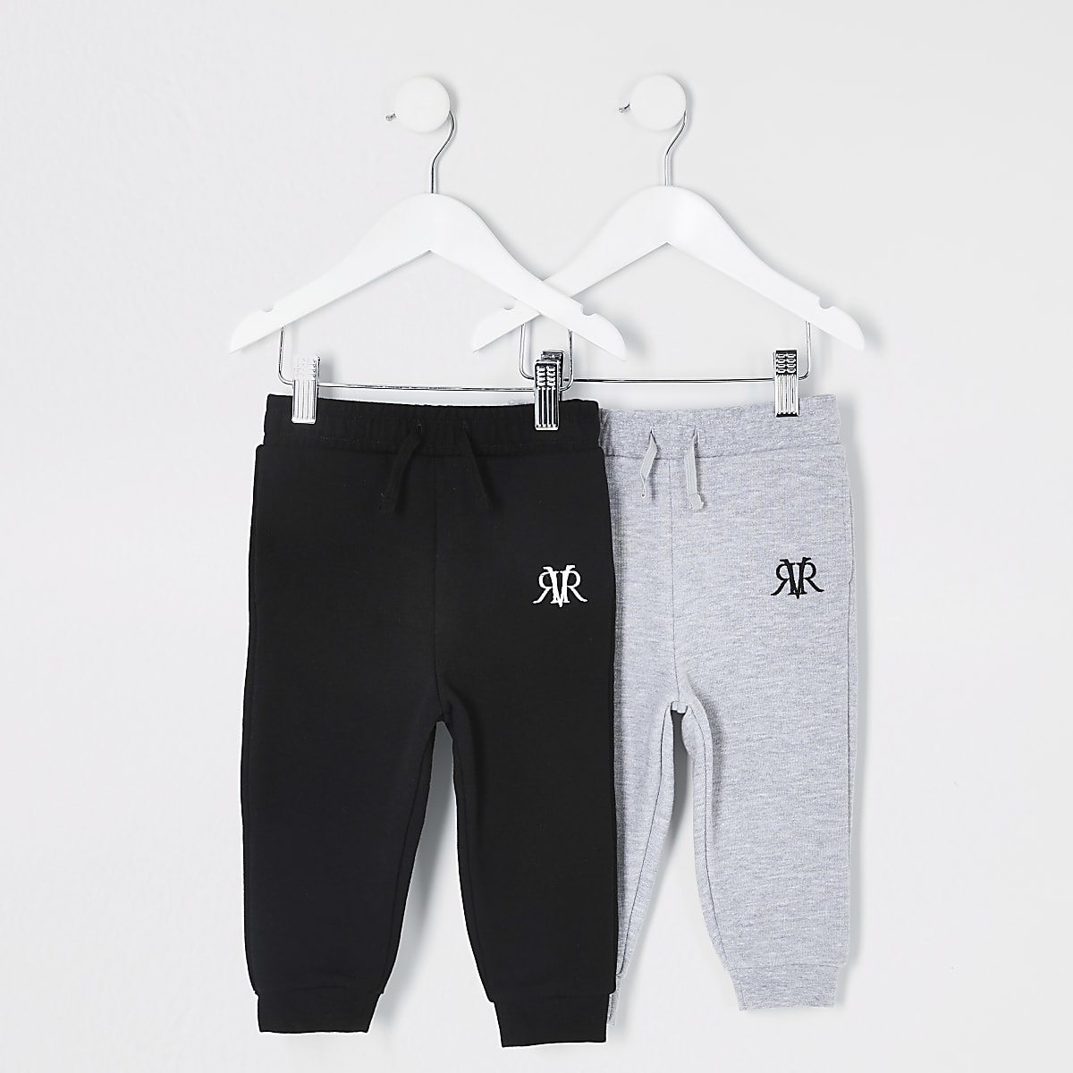 Mini boys black RVR joggers 2 pack