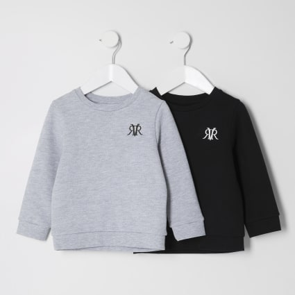 Mini boys grey RVR sweatshirt 2 pack