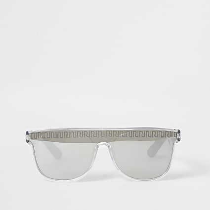 Mini boys silver RI visor sunglasses