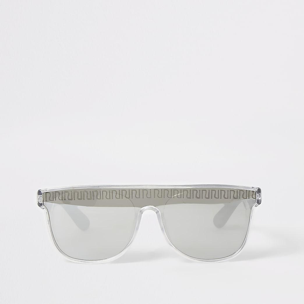 Mini boys silver RI visor sunglasses