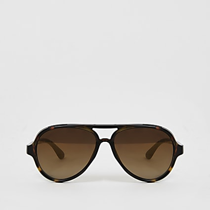 Mini boys brown aviator sunglasses