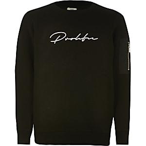 Boys black Prolific utility sweatshirt