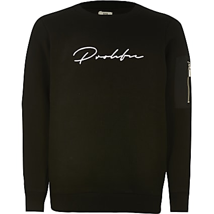 Boys black Prolific utility sweatshirt