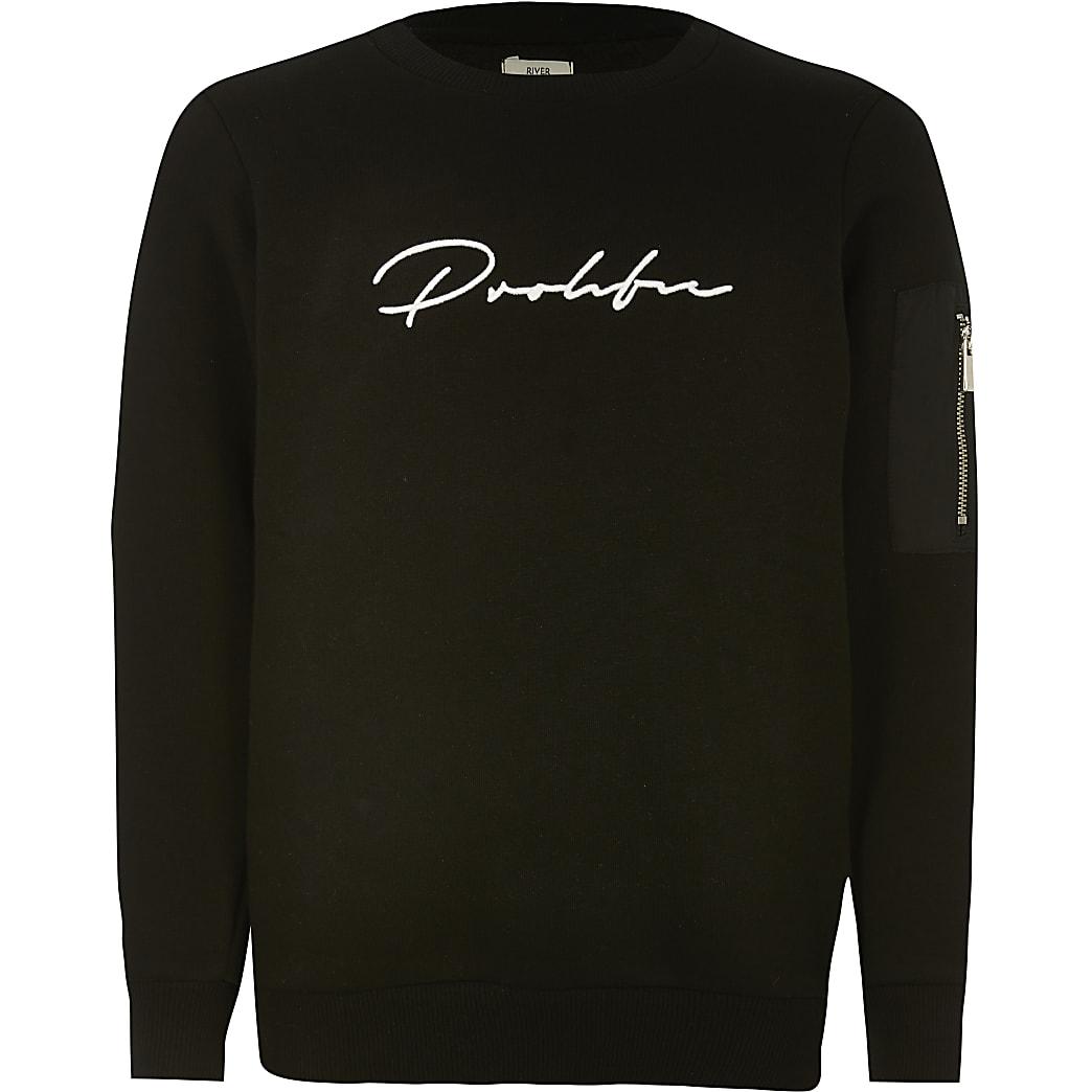 Prolific - Zwarte utility sweater voor jongens