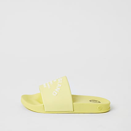 Girls yellow RI studio jelly sliders